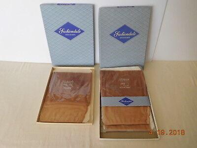 3 Pair Vintage NOS Fashiondale Seamed Seams Nylon Stockings