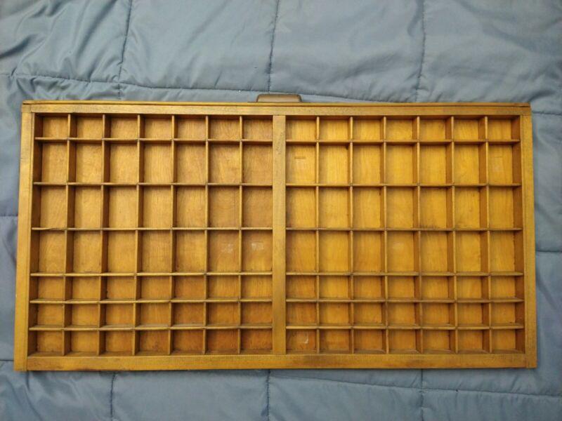 """Vintage Wood Printers Box ~ Hamilton ~ 32 x 17"""" ~ Drawer Shadow Box"""