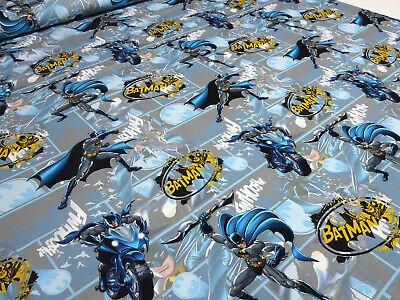 ey Batman Superhelden grau blau gelb Kinderstoff Kleiderstof (Blau Super-helden)