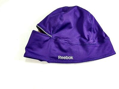53e3fa9b006 Womens Reebok Running Beanie Skull Cap Hat With Ponytail Hole