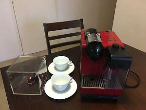 Nespresso Latissima Touch, inc. cappuccino cups and pod cube Wollstonecraft North Sydney Area Preview