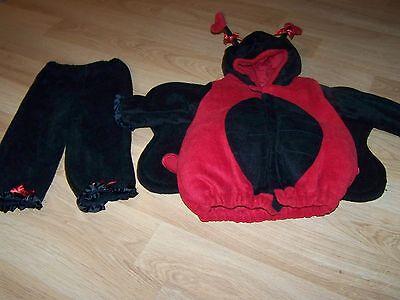 Size 12-24 Months Old Navy Lady Bug Ladybug Halloween Costume Red Black Hearts](Old Navy Ladybug Costume)