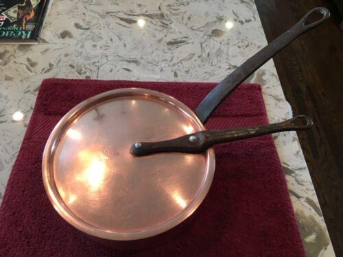 BIA Cordon Bleu France Copper Sauce/Sauté Pan With Lollipop Lid