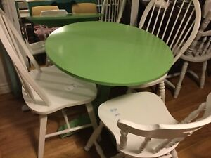 Green small dining table only