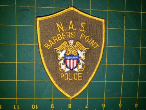 NAVAL AIR STATION BARBERS POINT POLICE PATCH STATE OF HAWAII AIRPORT HI MILITARY