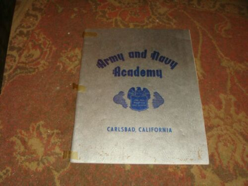 1947 Army and Navy Academy Yearbook - Carlsbad, CA - FREE SHIP