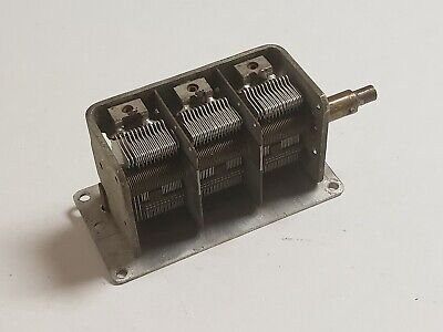 Used Three Section 365446365pf Air Dielectric Variable Capacitor C293