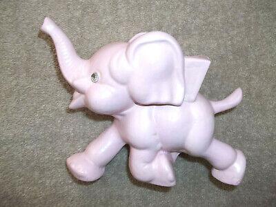Vintage Ceramic Pink Elephant Planter - Ceramic Elephant