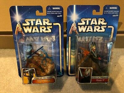 Star Wars AAYLA SECURA AND SHAAK TI JEDI KNIGHT Figures MOC