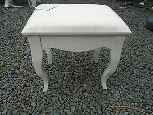 Ivory cream bedroom stool dressing table stool queen anne leg