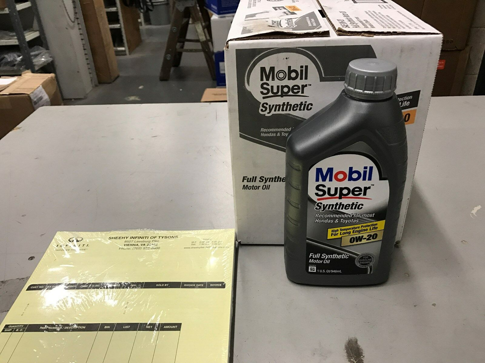 mobil super synthetic 0w 20 full synthetic motor oil case of 6 quarts new for sale in vienna. Black Bedroom Furniture Sets. Home Design Ideas
