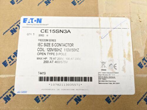 Eaton CE15SN3A IEC OPEN 3P CONT 300 AMPS SZ S 120V COIL