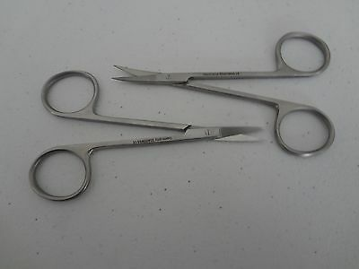 Micro Iris Scissors 4.5 Curved Straight German Stainless Steel Ce Surgical