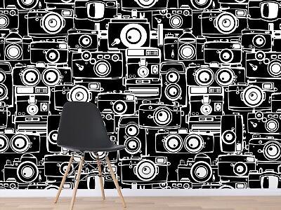 3D Kameras Schwarz 7112 Tapete Wandgemälde Tapete Tapeten Bild Familie DE