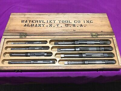 Vintage Adjustable Reamer Set 8pc Watervliet Tool Company U.s.a.