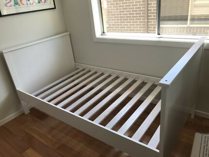 Two King Single White Bed Frames