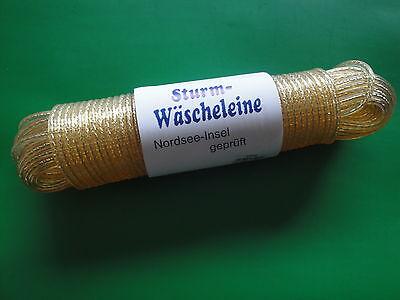 Sturm - Wäscheleine 50 m - mit Vollstahleinlage - Kunststoffummantelt  - NEU