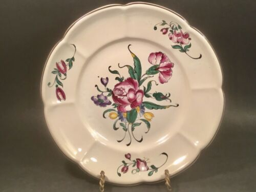 Antique Hand Painted French Faience Wall Plate c1890-1920