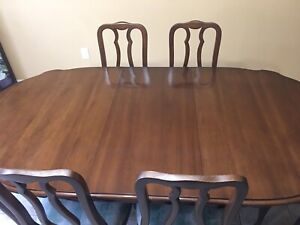 French Provincial style solid walnut dining room set