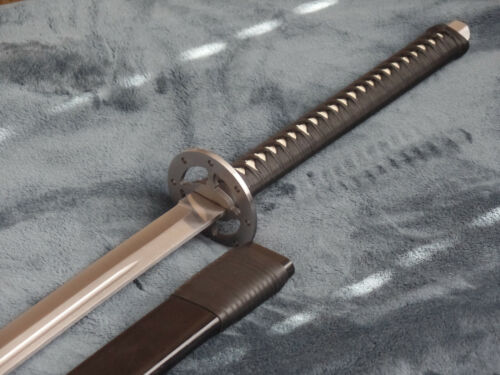 Sabersmith Katana with Birch wood leather wrapped scabbard