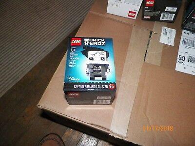 LEGOS BRICK HEADZ DISNEY CAPTAIN ARMANDO SALAZAR #10 118 PCS AGES 10+ 41594