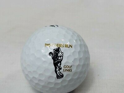 Vintage panther's run golf links logo Golf Ball dunlop DDH advertising