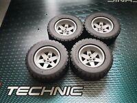 Lego Technic Technik 2 Räder Rad Reifen 81,6 x 36R hellgraue 6-Loch-Felgen