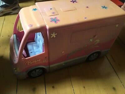 Barbie hot tub party bus maker RV with 2 Barbie Dolls