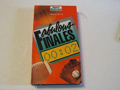 Fabulous Finales 00::02 sports Illustrated Video  (1986, VHS) vintage sports