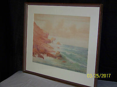 Richard Kruger American Listed Artist Original California Seascape c1900Painting