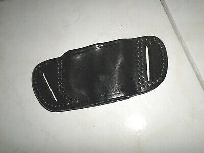 TRIPLE K Black Leather Skeleton Belt Slide Holster 246-10  Colt 1911