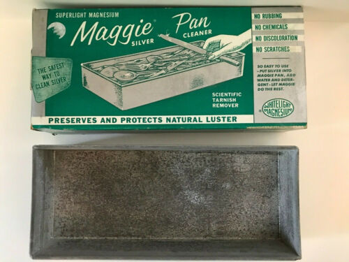 vintage Superlight Magnesium Maggie Pan sliver cleaner tarnish remover box