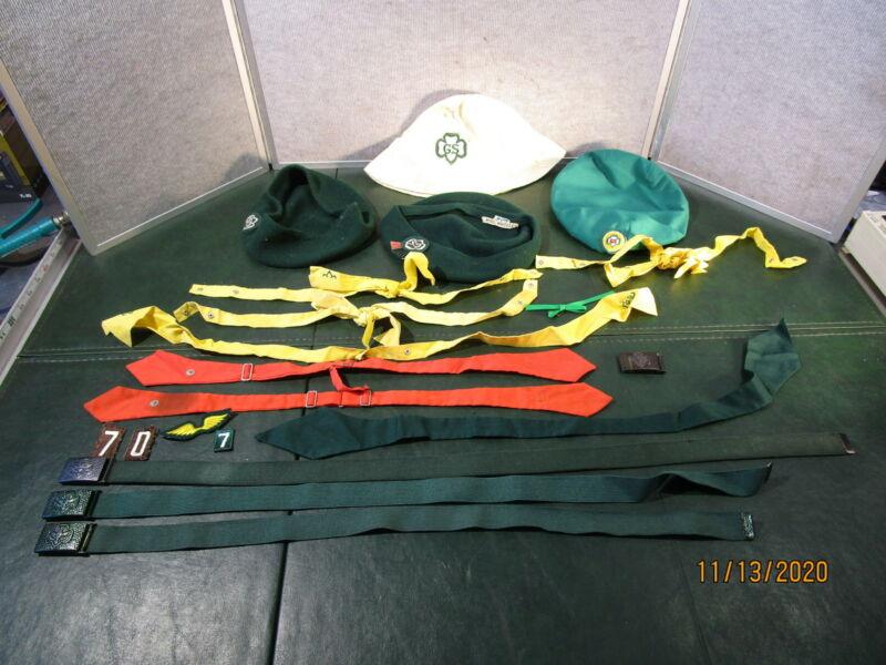 Vintage Girl Scouts Hat & Belts & More