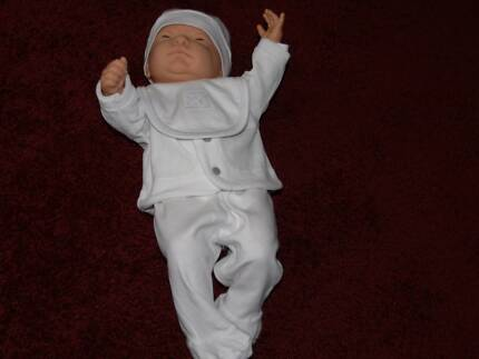 BABY BORN DOLL WITH ALL NEW WHITE BABY CLOTHES AND ORIGINAL PANTS Ashburton Boroondara Area Preview