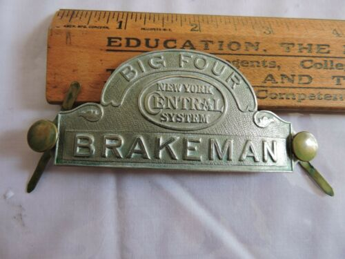 Rare 1900 NYCRR New York Central Railroad Brakeman Hat Badge Big Four