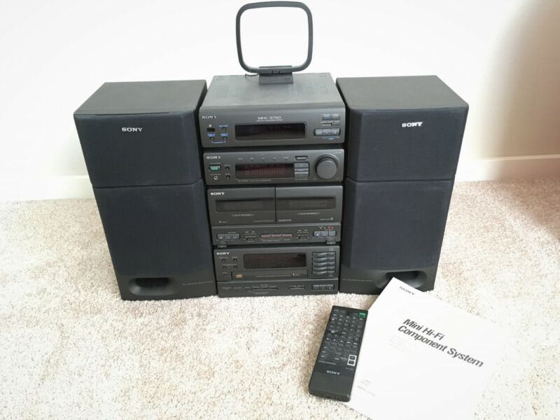 VINTAGE JAPAN SONY MHC-3750 MINI HIFI COMPONENT STEREO SYSTEM-COMPLETE