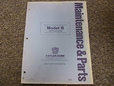 Taylor Dunn 2372r 2373r Electric Utility Cart Parts Service Repair Manual
