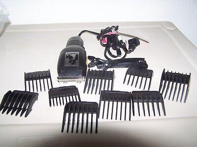 Conair Clipper Attachments - Conair HC117W Black Electric Hair Clipper Cutter w/ 12 Attachments