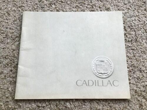 1962  Cadillac  original dealership color sales brouchure.