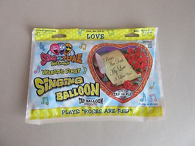 Heart Shape Singing Balloon Roses are Red 28
