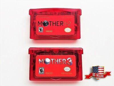 Mother 1 + 2 + 3 Cartridge Set - (English) GBA Game Boy Earthbound (USA Seller) comprar usado  Enviando para Brazil