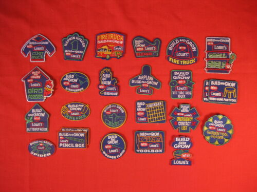 LOWES BUILD AND GROW PATCHES 23 DIFFERENT ONES NEW PLUS 2 DUPLICATES