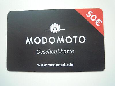 Gutschein 50 € MODOMOTO - Shopping für Männer * für Neukunden *