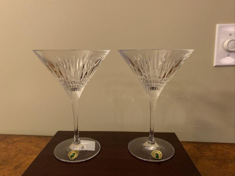 Waterford Lismore Diamond Martini Pair
