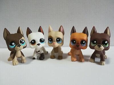 5Pcs/Lot  Littlest Pet Shop LPS Great Dane  Dogs Christmas Gift - Christmas Shop
