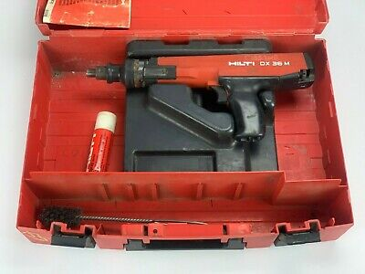 Hilti Dx36m Dx 36 M Powder Actuated Nail Stud Gun Fastening Tool W Case Acces