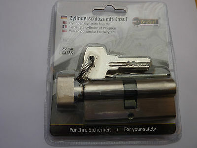 Profilzylinder mit Knauf, Schließzylinder,Türzylinder, Schloss 70mm, 35x35mm