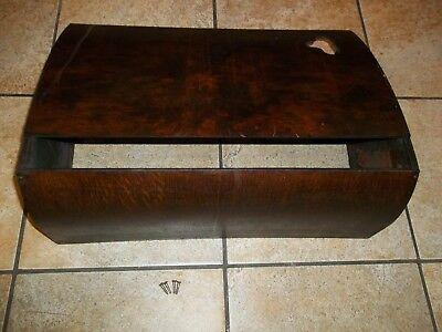 Antique Singer Treadle Sewing Machine Table Dust Cover Dark Finish - Lot E