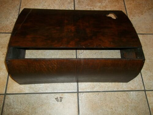 Antique Singer Treadle Sewing Machine Table Dust Cover Dark Finish - Lot E
