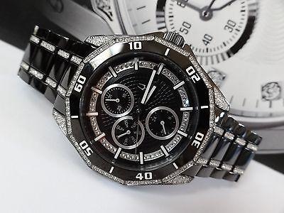 Bulova 98C111 Crystal Multifunction Black Stainless Steel Men's Watch $499